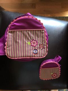 American girl sling backpack for child and doll