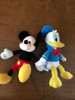 Kohl s Cares Mickey and Donald stuffed animald