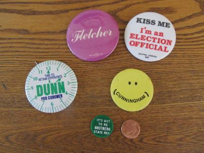 Election Pins~Kendall County~Vintage