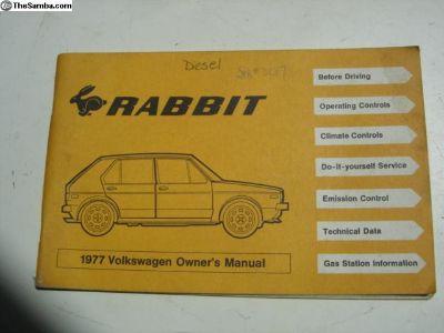 77 Rabbit Owners Manual