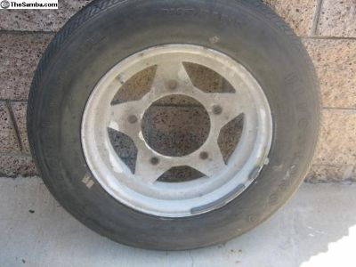 Thing Spoke wheel with tire 15""