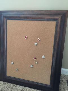 """Cork board (21 1/2"""" x 25 1/2"""") with push pins"""