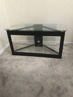 Three Level Black Wooden/Glass TV Stand