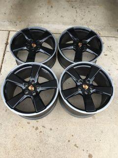 "20"" OEM Porsche 991 Sport Classic Wheels - Widebody 911 Carrera - Black"