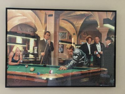 Pool table puzzle picture