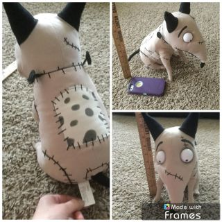 Disney Nightmare Before Christmas plush dog in GUC, about 12 inches tall, $5.00