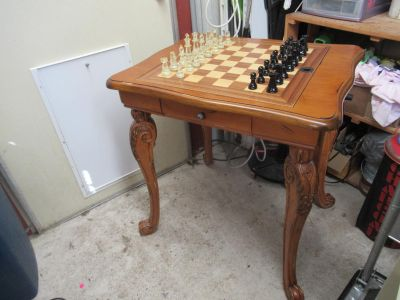 Beautiful Chippendale Wood Game Table