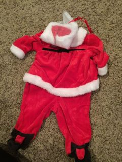 Velvet Mrs clause suit and hat