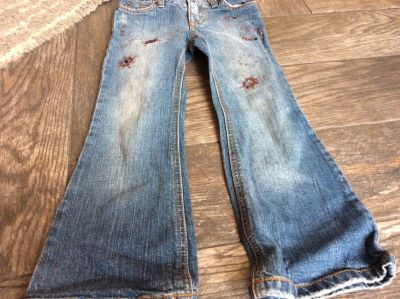 New flare leg girls jeans
