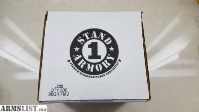 For Sale: Stand 1 Armory 223 2-500rd boxes