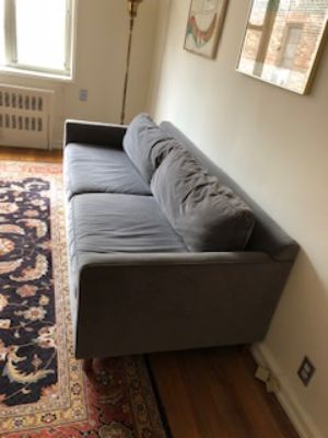 grey gray modern couch