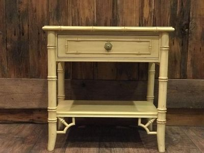 Bamboo End Table with drawer