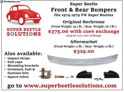 Bumper front and rear Super Beetle w/core