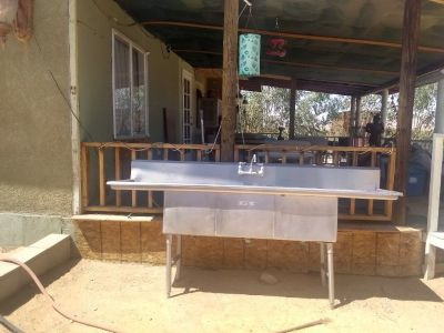 Stainless steel commerical sink 40.00
