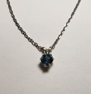 Natural Blue Heart Montana Sapphire necklace, 0.85cts