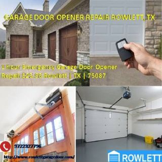 Emergency Garage Door Opener Repair Rockwall, TX $25.95