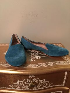 Lands End Teal Suede Shoes. Size 11