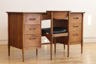 Mid Century Modern Lane Executive Desk and Chair