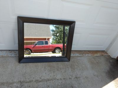 Large Black wood frame mirror