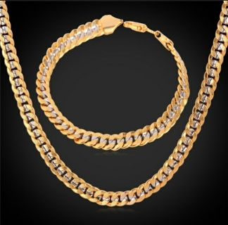 18k gold plated chain and bracelet