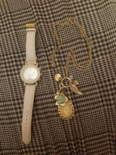 Necklace and watch
