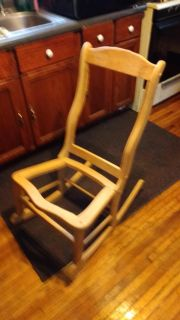 Unfinished rocking chair solid oak