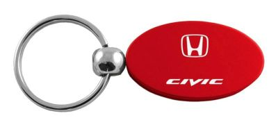 Buy Honda Civic Red Oval Keychain / Key fob Engraved in USA Genuine motorcycle in San Tan Valley, Arizona, US, for US $14.61
