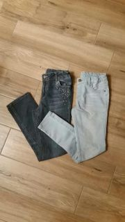 2 pair of size 10 skinny jeans. Excellent condition. Both have hidden adjustable waistbands.