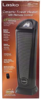 New! Lasko Elite Collection Digital Ceramic Tower Heater w/ Remote
