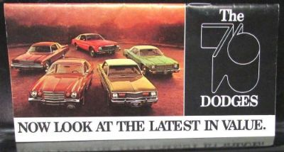 Sell 1976 Dodge Dealer Pocket New Models Sales Brochure Charger Dart Aspen Ramcharger motorcycle in Holts Summit, Missouri, United States, for US $14.95
