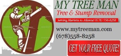 Tree Cut & Stump Removal Service. (678)558-8258 www.mytreeman.com