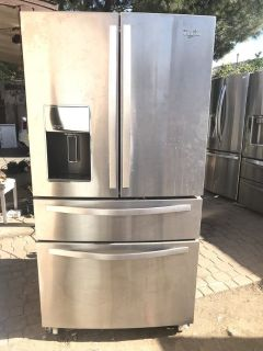 Whirpool french 4 Door Refrigerator Stainless Steel