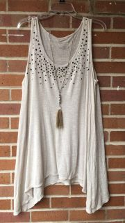 Beige Maternity tunic size medium. Super cute!! See detail in other picture.
