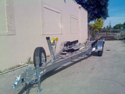 New Sea Tech Aluminum Boat Trailers from 15 to 45 feet.
