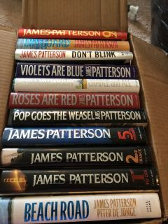 James Patterson hard covers