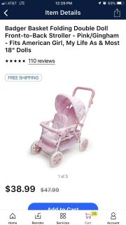 ISO two seat baby doll stroller