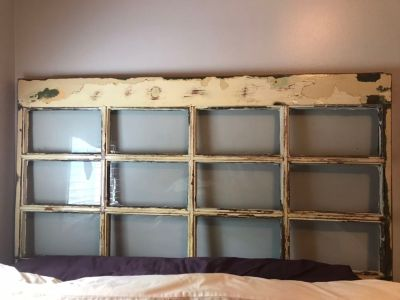 Vintage headboard & full size bed
