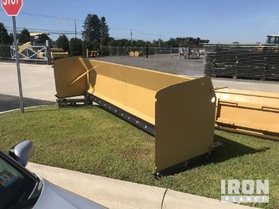 16' Snow Pusher Attachment - Fits Backhoe Loader