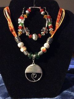 Crafted Hand Made Jewelry.Orange