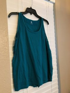 Turquoise Active Top w/Tulip back, Champion brand, XL, Great condition