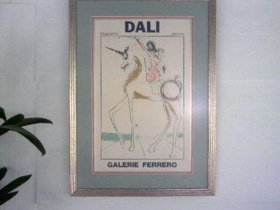 Very Rare Salvador Dali Poster Galerie Ferrero (Framed/Matted)