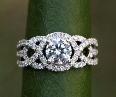 14K WHITE GOLD PLATED RING