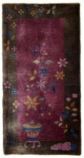 Handmade antique Art Deco Chinese rug, 1B607