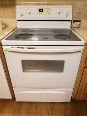 Cermic top electric stove