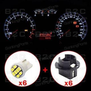 Find 6X White T10 8 Epistar LED Gauge Dash Panel Indicator Light Bulb Socket for BMW motorcycle in Milpitas, California, United States