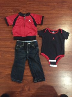 Jordan outfit w jeans - size 6-9mth - good condition!