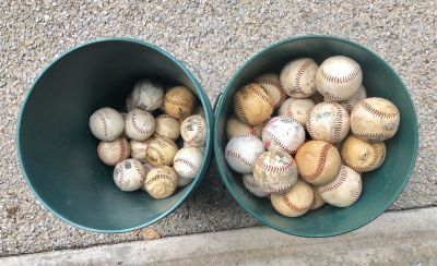 Baseballs and net (great for home practice!)
