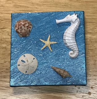 PAINTING BY ME (4 x4 ) THE SEA FLOOR