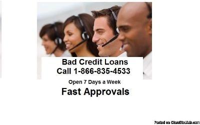 Dallas Bad Credit Loans 1-866-835