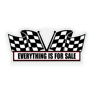 Sell Everything is For Sale engine AIR CLEANER DECAL for classic race show muscle car motorcycle in Mentor, Ohio, United States, for US $5.98
